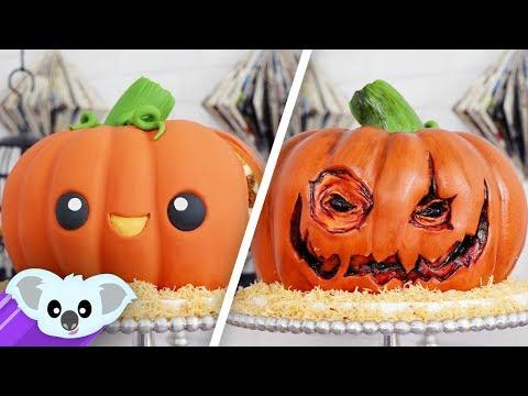 Halloween Pumpkin Surprise Cake |  Jack-O-Lantern Cake Ideas