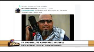 SA JOURNALIST KIDNAPPED IN SYRIA 16 Jan 2017