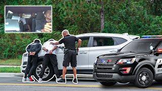 STOLEN COP CAR PRANK ON PRETTYBOYFREDO (GONE WRONG)