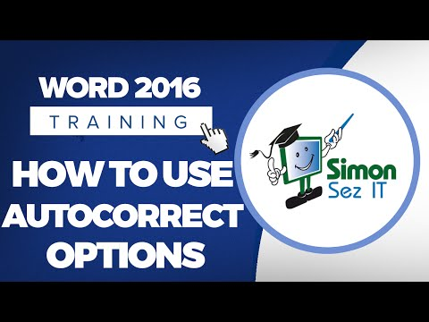 How to Use AutoCorrect Options in Microsoft Word 2016