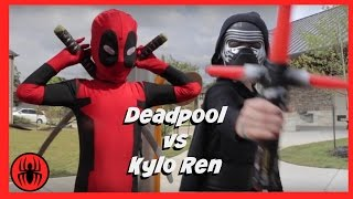 Kid Deadpool vs Kylo Ren in Real Life Superhero Battle | STAR WARS 7 Fights | Super Hero Kids Movie