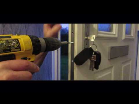 How to replace a uPVC door lock or euro cylinder