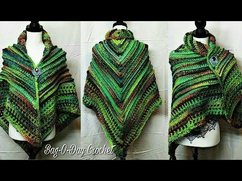 How To Crochet - Shawl | Paths To Eden Ladies Shawl | BAGODAY Crochet Tutorial #469