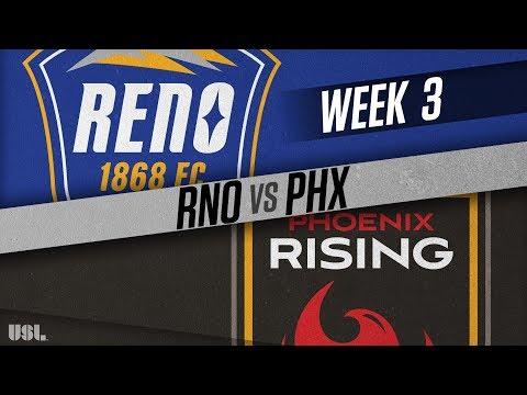 Reno 1868 FC vs Phoenix Rising FC: March 31, 2018