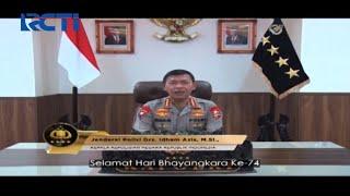 Kapolri Jenderal Polisi Idham Azis Ucapkan Peringatan Hari Bhayangkara ke-74 - SIP 01/07