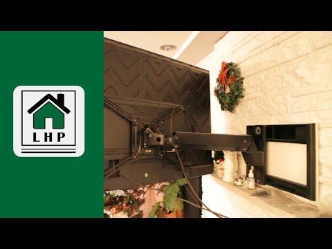 TV Wall Mount on Stone Fireplace Follow-up - LHP