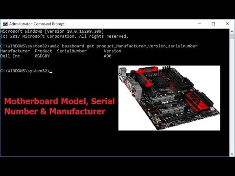 How to Check Motherboard Model, Serial Number & Manufacturer-Hindi