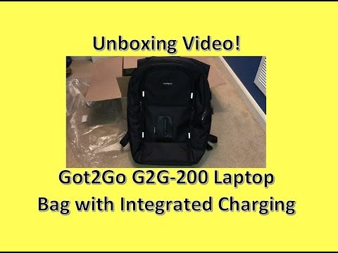 READ DESCRIPTION! Got2Go G2G-200 Laptop Bag with Integrated Charging Unboxing & Review
