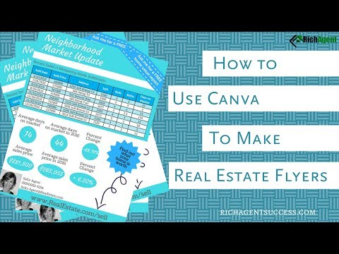 Create Marketing Flyers   Canva for Real Estate   Tutorial for Realtors