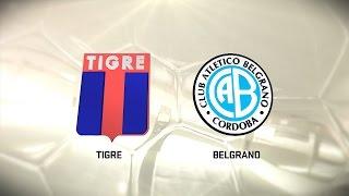 Fútbol en vivo. Tigre vs. Belgrano. Fecha 9. Torneo de Primera División 2016/2017. FPT