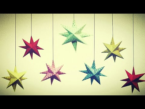 8 Point 3D star for Christmas tree decoration-1 | Christmas tree ornament | New year decor