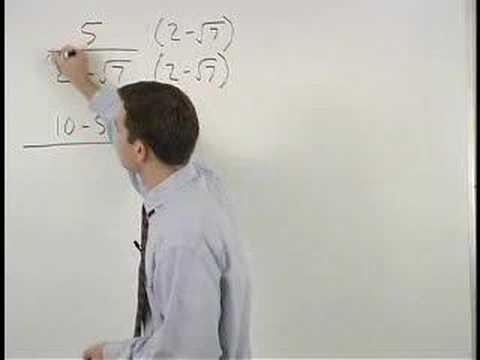 Dividing Radicals Using Conjugates - MathHelp.com