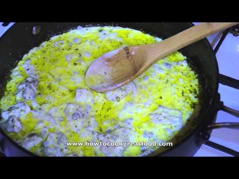 Chicken & Cream with Gnocchi - Super Fast & Tasty ready in 15 min recipe Italian pasta sauce