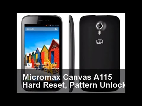 Micromax Canvass A115 Hard Reset - 3D Mobile
