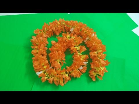 How to make tissue paper firecracker (kanakambaram) flowers garland