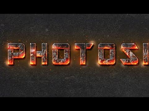 Fire Text Effect Photoshop cs6 tutorial
