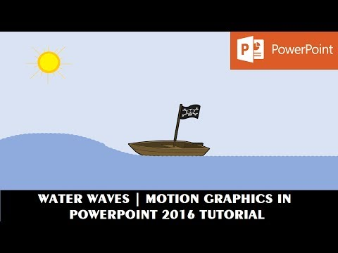Water Waves Effect | Motion Graphics in PowerPoint 2016 Tutorial | The Teacher