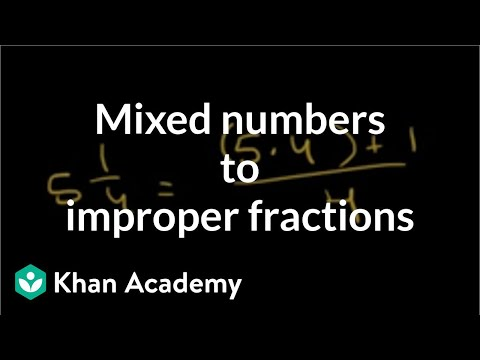 Converting mixed numbers to improper fractions | Fractions | Pre-Algebra | Khan Academy