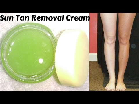 How To Make Face And Body Sun Tan Removal Cream Easily At Home | Only 4 Ingredients