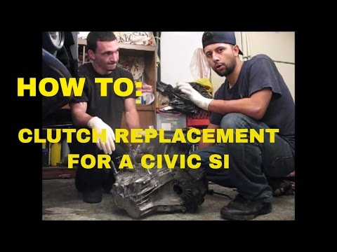 2008 CIVIC SI CLUTCH REPLACEMENT!