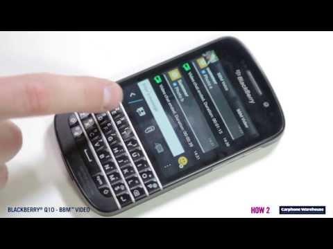 BlackBerry Q10 - How2 Use BBM Video