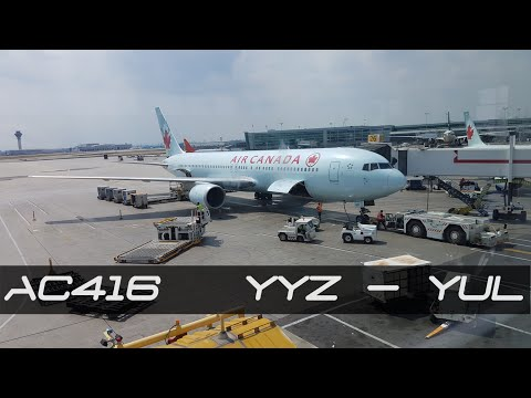 Air Canada in 4K | Boeing 767-375(ER) | Toronto to Montreal