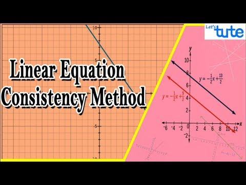 Linear Equations in two variables - Consistency Method | Algebra | LetsTute