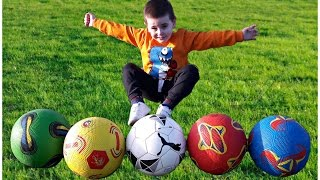 Learn Colors with Balls for Children, Toddlers and Babies | Learn Colours with Soccer Balls