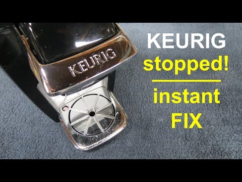 How to fix ● KEURIG coffee maker ● that's slow brewing or has stopped