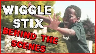 TRENT CHALLENGES ME TO A FIGHT! l Wiggle Stix Behind the Scenes