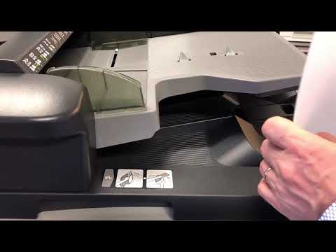 Konica Minolta C658 Tutorial How to use Hole Punch Function