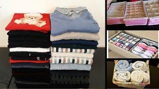 طي الملابس مثل الكتب بشيء موجود في كل مطبخ!!! علب خاصة بترتيب الملابس الداخلية من الجزائر