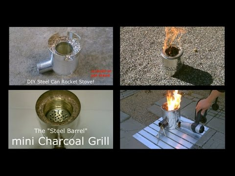 12 DIY Metal Can Stoves! - Rocket Stoves, BBQ Grills etc... (Compilation - My DIY Stoves) - Easy DIY