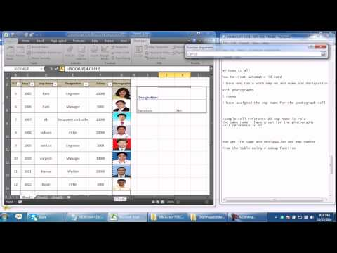 AUTOMATIC ID CARD CREATION IN MICROSOFT EXCEL