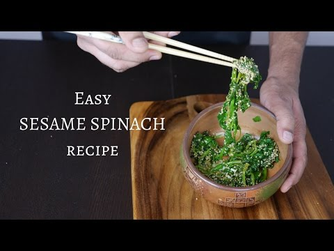 How to Cook Spinach: Recipe with Sesame Seeds