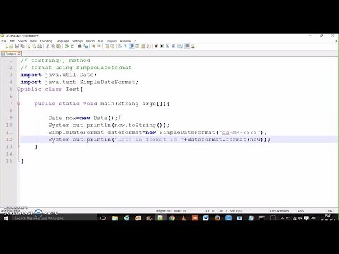 Java Date Time  | How to Convert Date to String | Hindi | Formatting date using SimpleDateFormat