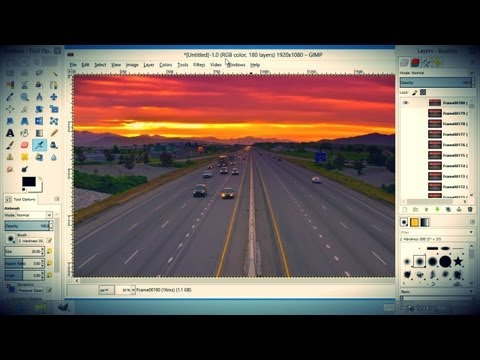 How to Make an Animated GIF from Video in GIMP