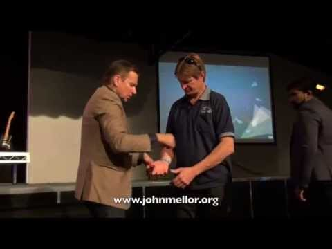 Chronic painful arthritis healing & swelling goes down - John Mellor Healing Ministry