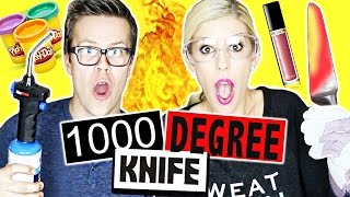 Download CUTTING THINGS OPEN WITH 1000 DEGREE KNIFE!!! Video