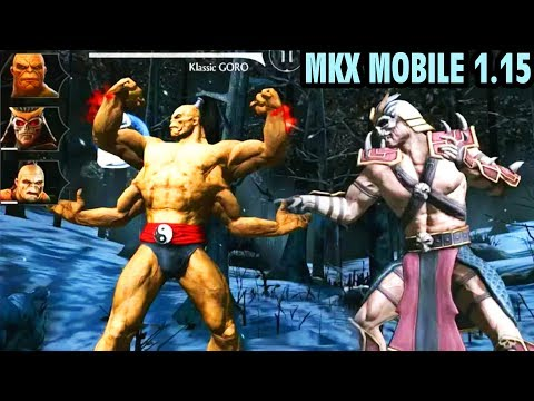 MKX Mobile 1.15. KLASSIC GORO and KONQUEROR SHAO KAHN are Coming to Mortal Kombat X Mobile!