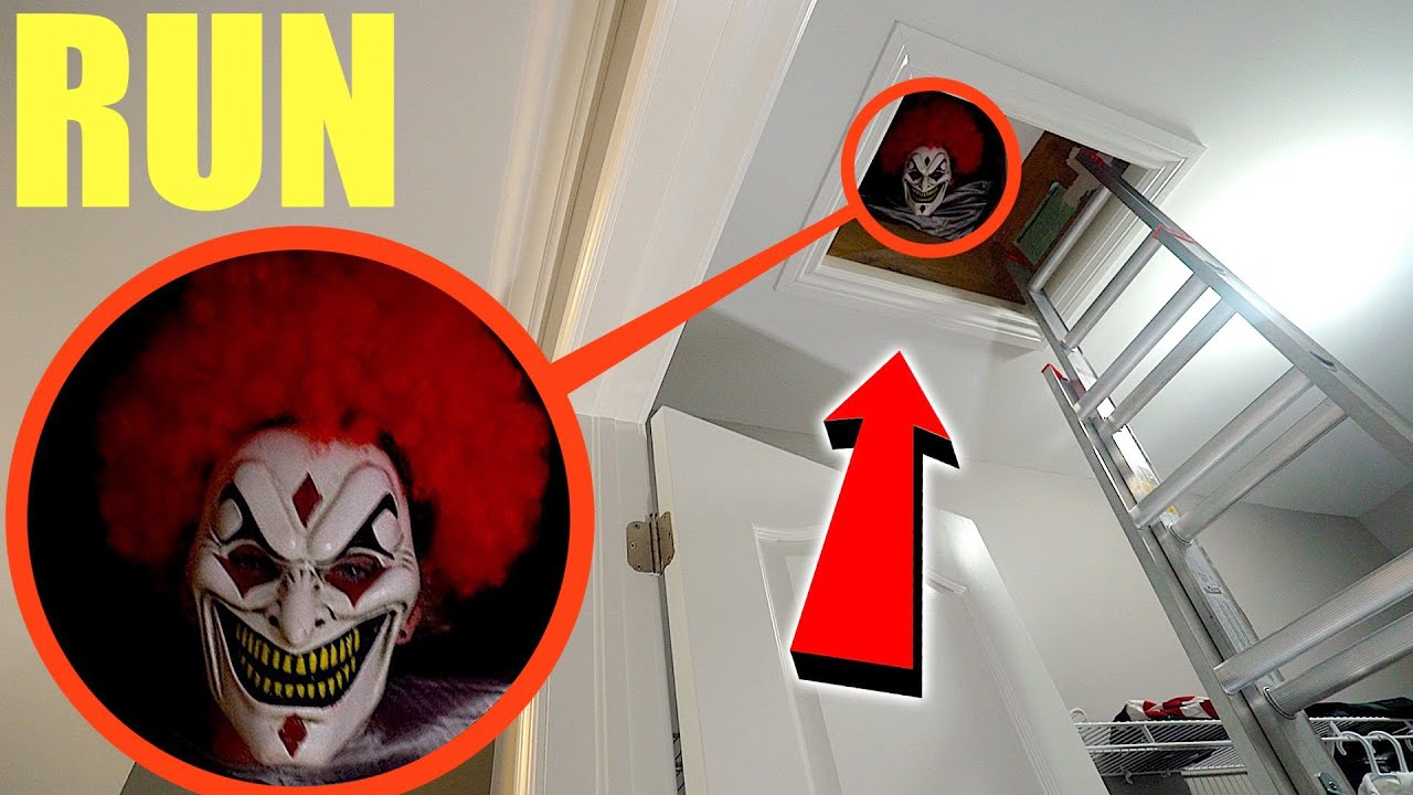if you ever see this in your attic get out of your house and RUN fast! (a clown was living inside)