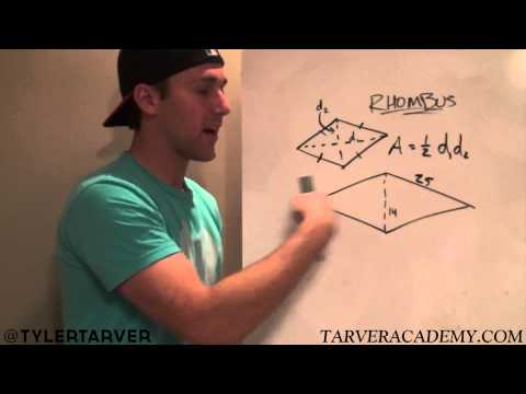 9-1 Area of a Rhombus - GEOMETRY