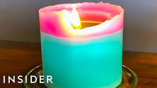 Candles With Wick That Burns In A Spiral