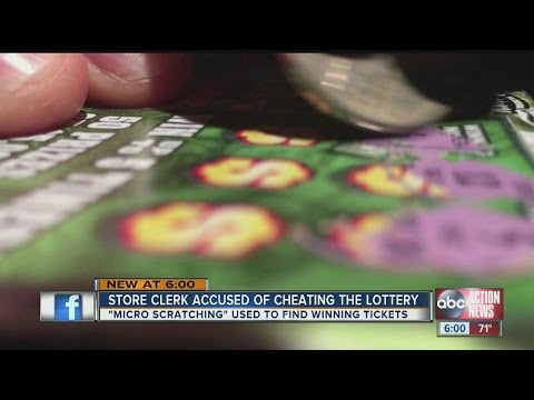 Store clerk accused of cheating the lottery