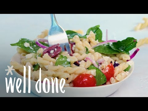 How To Make Greek Pasta Salad | Recipes | Well Done