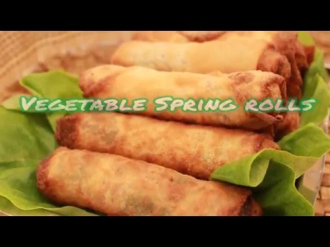 Vegetable spring rolls - Lumpiang gulay