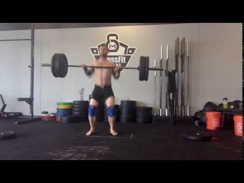 185 power clean barefoot