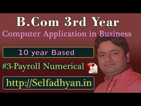 #3 Payroll Based Exam Question - BCOM 3rd Year - Computer Application in Business with PDF3