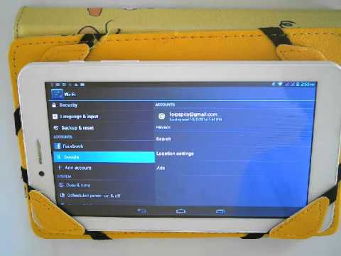 how to remove google account in android tablet