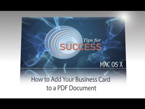 Add Your Business Card to a PDF Doc - Mac OS X